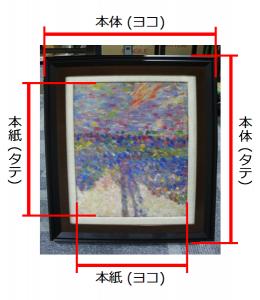 本紙 … 絵が描かれている部分 本体 … 軸全体