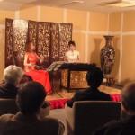 中国の伝統楽器、二胡と楊琴のデュオのライブ演奏